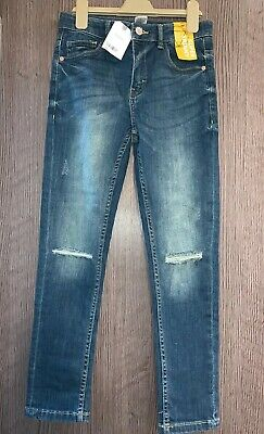 NEW WITH TAGS Next Boys Denim Blue Super Skinny Fit Jeans Age 10 Years RRP £16