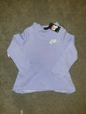 New Nike Kids Size L Girls Jumpers Sweatshirt Purple 3M