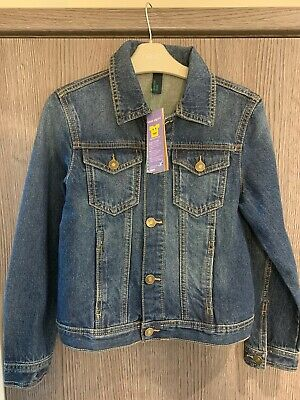 Benetton Jeans Boys Denim Jacket Age 7-8 Years  Brand New With Tags