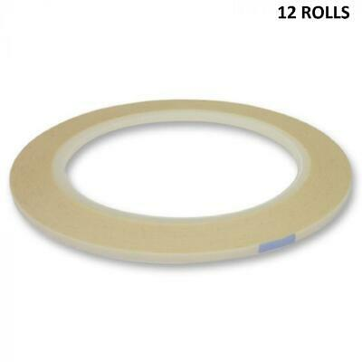 Hunkydory - 12 Rolls Of Double-Sided Tape - 3mm Width - 33 Metre Roll