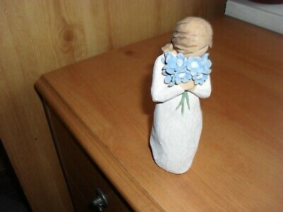 Willow Tree Forget-me-not Figurine GIRL WITH FLOWERS  SEE LISTING