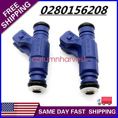 2 X Fuel Injector 0280156208 Fit For Polaris Ranger SportsmanEFI 700 800
