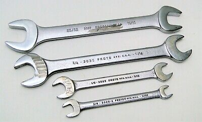 4 Piece Proto Assorted Open End Wrench Set 25/32 thru 11/32