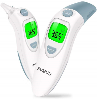 SVMUU Ear and Forehead Thermometer, Digital Infrared Thermometer for Babies, and