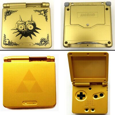 Gold Plastic Housing Shell Case Cover for GBA SP Majora's Mask Limited Edition