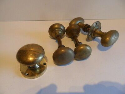 Super Collection Of  Vintage Brass Door Knobs / Handles