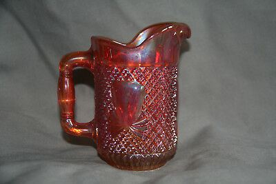 Carnival Glass Sowerby Pineapple & Bows Jug