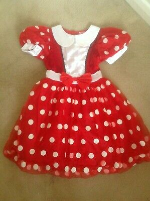 Lovely Girls Disney Red Minnie Mouse Fancy Dress Costume - Age 5-6 Years