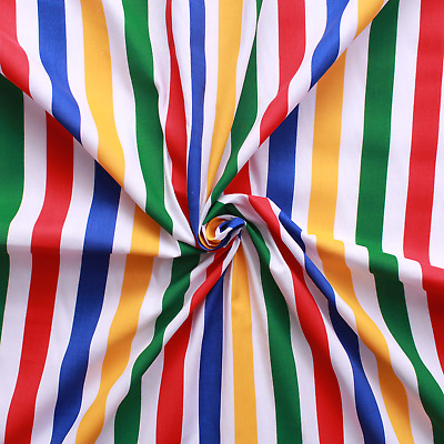 11mm Candy Stripes Polycotton Fabric Two Colours!