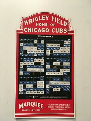 2020 Chicago Cubs Convention Official Marquis Game Magnet Schedule - New