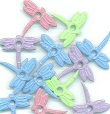 """8 Pastel DRAGONFLY 1/8"""" Quicklets Eyelets Stamping Scrapbooking Card Making"""