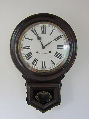 Superb Antique Chiming Drop Dial Wall Clock-circa 1890- Ansonia