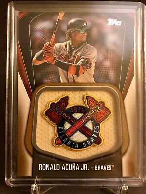 2020 Topps Series One RONALD ACUNA JR. Jumbo Jersey Sleeve Patch GOLD #'d 31/50