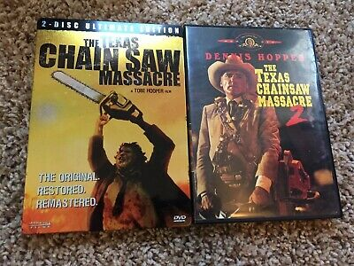 The Texas Chainsaw Massacre (DVD 2-Disc Set, Ultimate Edition) & 2 the Sequel