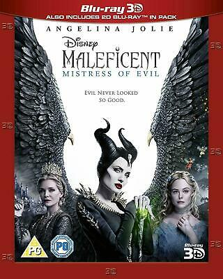 MALEFICENT MISTRESS OF EVIL 3D Blu-ray 3D + 2D New With Slip Cover.