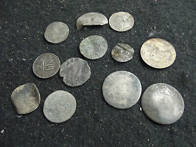 Unresearched silver coins uncleaned