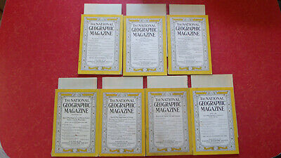 National Geographic Magazines from the 1930's ALL WITH MAPS! You Choose! EUC!