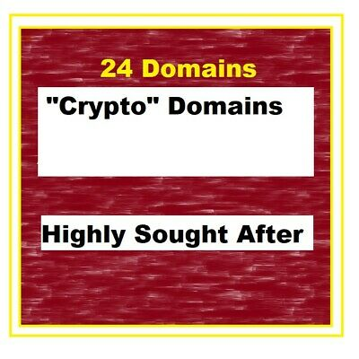 Crypto Domains - 24 Total - .com domains with crypto