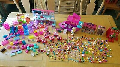 Huge Shopkins Lot Figures Accessories Shoppies Dolls Playsets 500 + Items