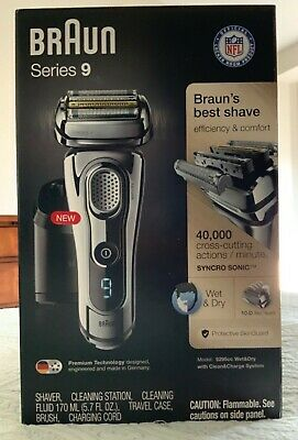 Braun 9295CC Series 9 Wet & Dry Mens Electric Shaver (and 4-Pack cleaner refill)