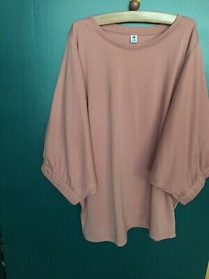 Uniqlo Girls Dusky Pink Top Batwing Age 11-12