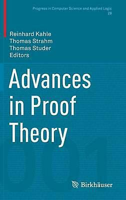 Advances in Proof Theory (English) Hardcover Book Free Shipping!