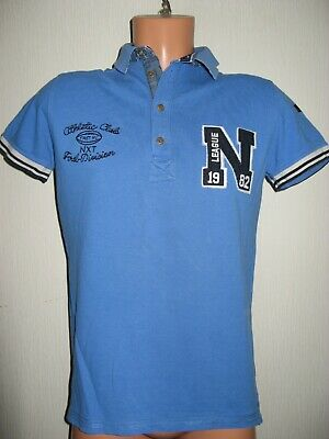 Worn Once Boys Bright Blue Next Short Sleeve Cotton Polo Style T-Shirt Age 13-14