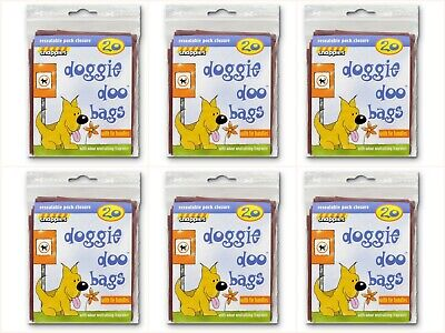 Doggie Doo Bags With Odour Neutralising Fragrance 120 bags 6 packs- Snappies