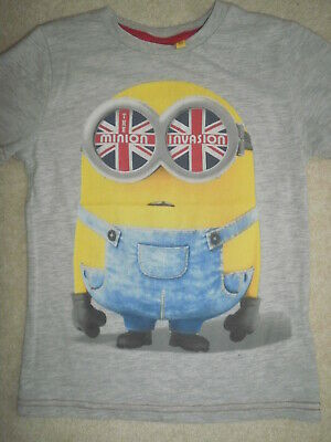 Primark Rebel grey Minions T-shirt age 5-6yrs