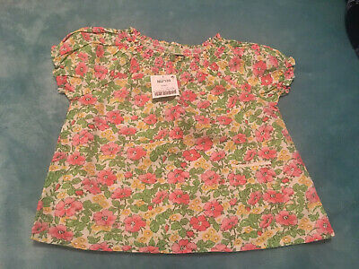 Girls Next Short Sleeve Floral Blouse Age 4-5 BNWT
