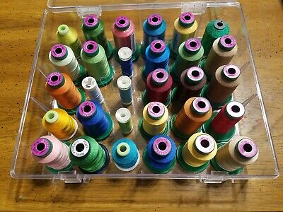 Lot Of 25 Random New Isacord Embroidery Threads