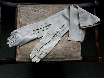 Jasper Conran Ivory kid leather gloves. Long - elbow length. Small