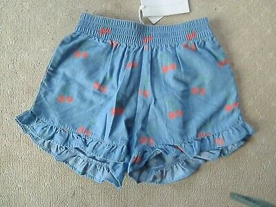 Stella Macartney Girls Denim Cherry Shorts Age 10 Years **Brand New With Tags**