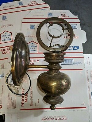Vintage Antique Brass Bronze Wall Sconce Light Seva?