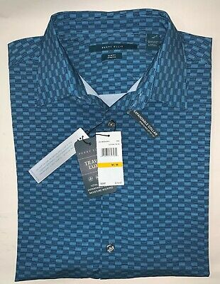 NEW Perry Ellis Mens Slim Fit Print Stretch Long Sleeve Shirt Size M MSRP: $79.5
