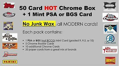 50 baseball card lot Hot Box chrome modern rookie auto patch relic HIT no junk!