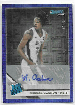 Nicolas Claxton RC 2019-20 Panini Donruss Choice Rated Rookie Auto Blue 16/35