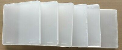 "Bulk 6 x 3.5""  Plastic Floppy Diskette Disk cases size 9.7x10 cm each hold 2"