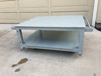 """Machine Base 17"""" tall by  32"""" deep by 36"""" wide - solid steel industrial"""