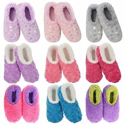 Slumbies Fun with Fur Non-Slip Grip Soles Soft Slippers Socks *FREE DELIVERY**