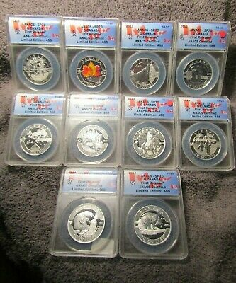 """2013 - Canada  """"Oh Canada"""" $10 Silver  Comm. - Anacs  Sp 70  Fr  - 10  Coin  Lot"""
