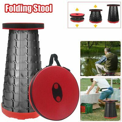 Portable Folding Camping Stool Lightweight Collapsible Telescoping Seat Outdoor