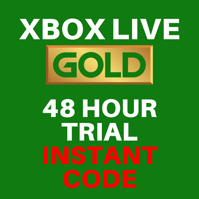 Xbox Live Gold 48 Hour / 2 Day Trial Membership Code - Xbox one / Xbox 360