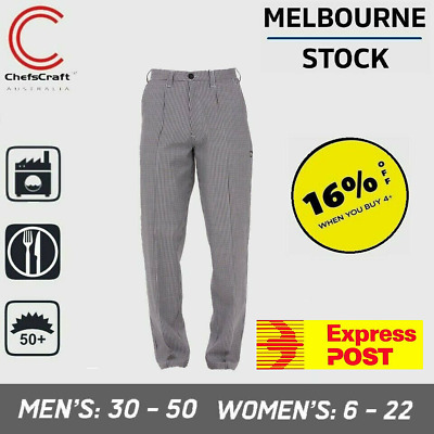 Mens Womens Ladies Check Checkered Chef Hospitality Food Industry Pant Trouser