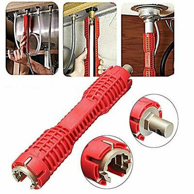 Extra-long Faucet and Sink Installer Install Tool Kitchen Bathroom Red Durable