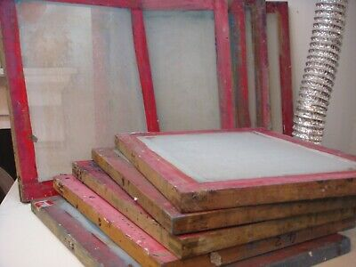 Screen Printing Screens X 10 Wooden solid wood frames
