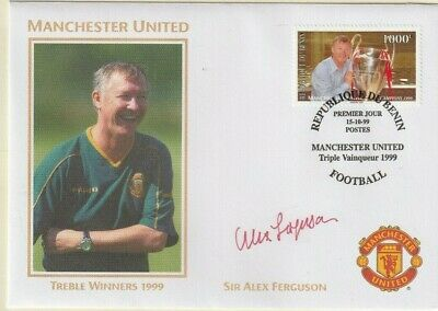1999 Manchester United Treble Winners Cover Hand Signed Sir Alex Ferguson