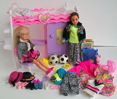 STACIE TODD BunkBed Clothes Barbie Doll Little Sister Twin Boy Party n Play Lot