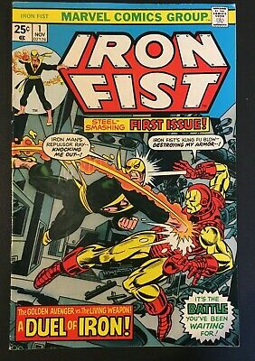 Iron Fist No. 1. Bronze Age 1975.  Complete With Marvel Stamp. Vfn, Byrne-Art.