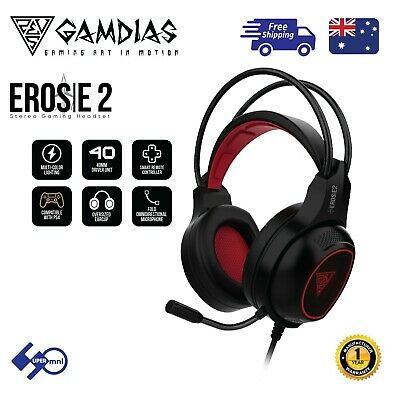 3.5mm Gaming Headset Headphone Multi-Color Light Compatible with PC/PS4/Xbox one
